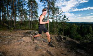 Markus Kuopio Trail Cupin Neulamäen kisassa. Kuva: Aapo Laiho